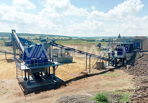 100T/H Stone Crushing Production Line in Russia